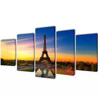Set de toiles murales imprimées Tour Eiffel 100 x 50 cm