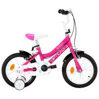 vidaXL Vélo pour enfants 14 pouces Noir et rose