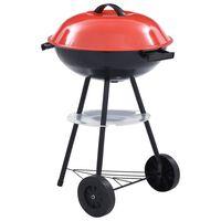 vidaXL Barbecue portable XXL au charbon avec roues 44 cm