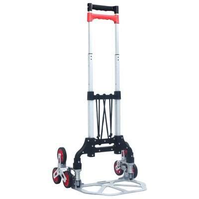 vidaXL Chariot d'escalier pliable 70 kg Aluminium Argenté,