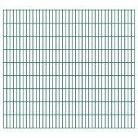 vidaXL Panneaux de clôture de jardin 2D 2,008x1,83 m 14 m total Vert