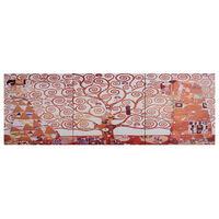 vidaXL Ensemble de tableau sur toile Arbre Jaune 120x40 cm