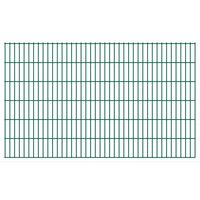 vidaXL Panneaux de clôture de jardin 2D 2,008x1,23 m 48 m total Vert