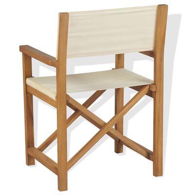 vidaXL Chaise pliable de metteur en scène Bois de teck solide
