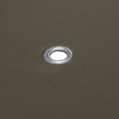 vidaXL Toile supérieure de belvédère 2 niveaux 310 g/m² 3x3 m Taupe