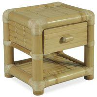 vidaXL Table de chevet 45 x 45 x 40 cm Bambou naturel
