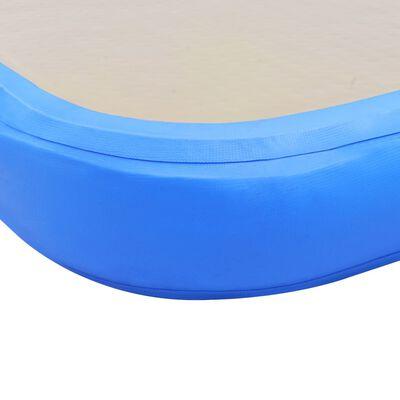 vidaXL Tapis gonflable de gymnastique avec pompe 300x100x10cm PVC Bleu