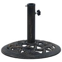 vidaXL Socle de parasol Noir et bronze 9 kg 40 cm Fonte