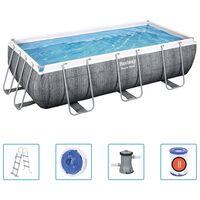 Bestway Ensemble de piscine Power Steel 404x201x100 cm
