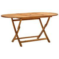 vidaXL Table de jardin pliable 160x85x75 cm Bois d'acacia massif