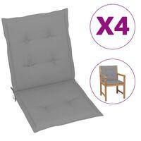 vidaXL Coussins de chaise de jardin 4 pcs Gris 100x50x4 cm