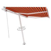 vidaXL Auvent automatique sur pied 300x250 cm Orange/marron