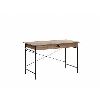 Bureau avec tiroir effet bois foncé 120 x 60 cm CASCO