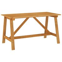 vidaXL Table à dîner de jardin 140x70x73,5 cm Bois d'acacia massif