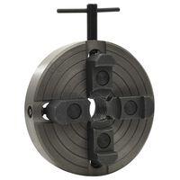 vidaXL Mandrin à bois 4 mâchoires et connexion M33 Acier Noir 150x63mm