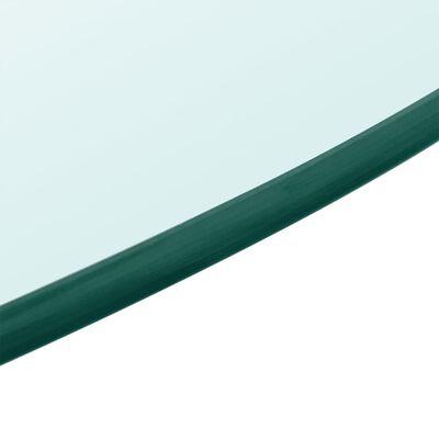 vidaXL Dessus de table ronde en verre trempé 700 mm