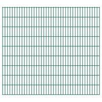 vidaXL Panneaux de clôture de jardin 2D 2,008x1,83 m 10 m total Vert