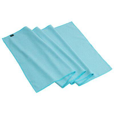 Pure2Improve Serviette de yoga antidérapante Bleu