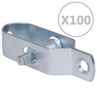 vidaXL Tendeurs de fil de clôture 100 pcs 100 mm Acier Argenté
