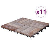 vidaXL Tuiles de terrasse 33 pcs 30x30 cm Bois de récupération solide