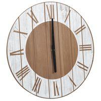 vidaXL Horloge murale Marron et blanc 39,5 cm MDF