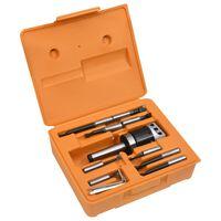 vidaXL Jeu d'outils d'alésage 15 pcs 50 mm Tête d'alésage MT3-F1-12