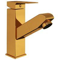 vidaXL Robinet de lavabo rétractable Finition dorée 157x172 mm