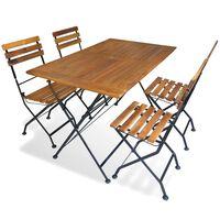 vidaXL Mobilier à dîner d'extérieur pliable 5 pcs Bois d'acacia solide