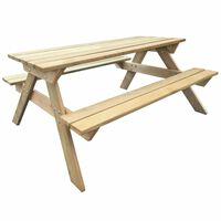 vidaXL Table de pique-nique 150 x 135 x 71,5 cm Bois