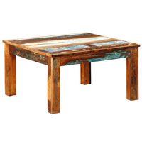 vidaXL Table basse carrée Bois de récupération