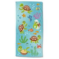 Good Morning Serviette de plage TURTLES 75x150 cm Multicolore