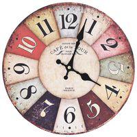 vidaXL Horloge murale vintage Colorée 30 cm