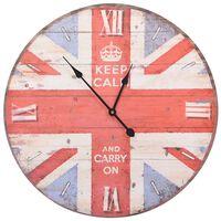vidaXL Horloge murale vintage Royaume-Uni 60 cm