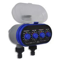 vidaXL Minuterie électronique d'arrosage automatique avec capteur