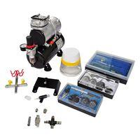 vidaXL Kit de compresseur d'aérographe avec 3 pistolets