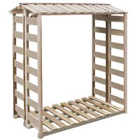 vidaXL Abri de stockage à bois de chauffage 150x90x176 cm Pin imprégné