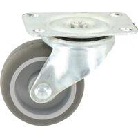Roulette Mini-Roll à platine pivotante - 54 x 42 mm - GUITEL