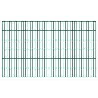 vidaXL Panneaux de clôture de jardin 2D 2,008x1,23 m 14 m total Vert