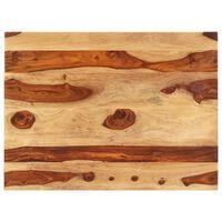 vidaXL Dessus de table Bois solide 25-27 mm 60x70 cm