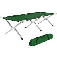 Lit de camp pliable XL 190cm + housse vert