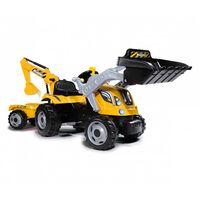 Smoby Tracteur et remorque pour enfants Builder Max Jaune et noir