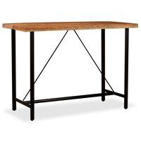 vidaXL Table de bar Bois massif d'Acacia 150x70x107 cm