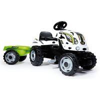 Smoby Tracteur et remorque pour enfants Farmer XL Blanc et noir