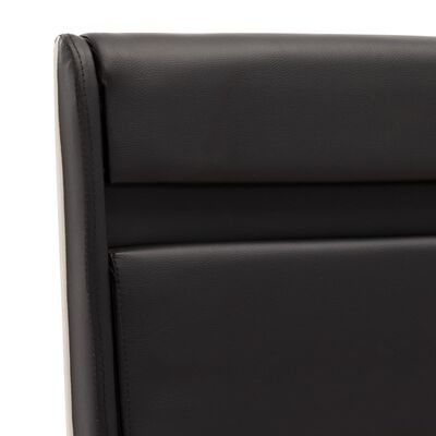 vidaXL Cadre de lit avec LED Noir Similicuir 140 x 200 cm