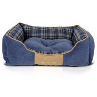 Scruffs Lit à boîte pour chien Highland Bleu M