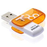 Philips Clé USB 3.0 Vivid 128 Go Blanc et orange