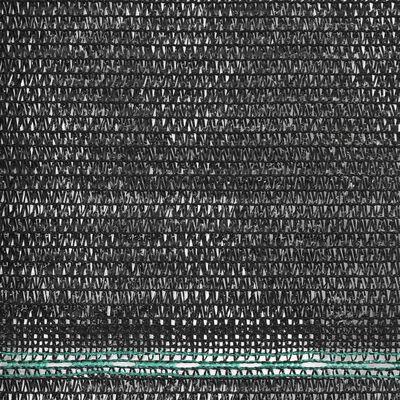 vidaXL Clôture de tennis PEHD 1 x 25 m Noir
