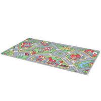 vidaXL Tapis de jeu Poil à boucle 170 x 290 cm Motif de route de ville