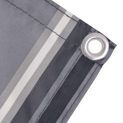 vidaXL Paravent de balcon Tissu Oxford 75 x 600 cm Bande Gris