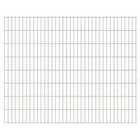 vidaXL Panneau de clôture de jardin 2D 2,008x1,63 m Argenté